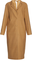 Nina Ricci Cut-out back silk-noil tench coat