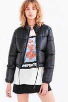 Silence & Noise Silence + Noise Ezra Alt Vegan Leather Puffer Jacket