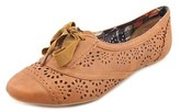 Not Rated Rosebud Women Round Toe Synthetic Tan Oxford.