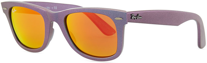 Ray-Ban Wayfarer Sunglasses with Mirrored Lenses, Iridescent Lavender