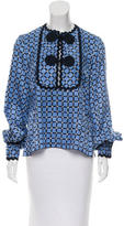 Andrew Gn Silk Printed Top