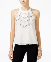 XOXO Juniors' Embellished Chiffon Top
