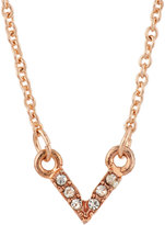 Lydell NYC Pave Crystal V Pendant Necklace, Rose Gold