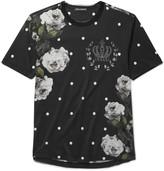 Dolce & Gabbana - Raw-edge Printed Cotton-jersey T-shirt