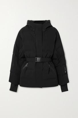 Ienki Ienki Sheena Hooded Belted Quilted Down Ski Jacket - Black