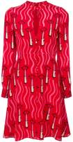 Valentino lipstick print dress