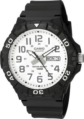 Casio Men's 'Diver Style' Quartz Resin Casual Watch Color:Black (Model: MRW-210H-7AVCF)