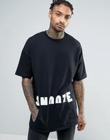 Asos Oversized Short Sleeve Sweatshirt With Print