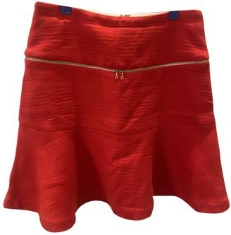Sandro Red Cotton Skirt for Women