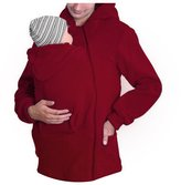 GAMT Men's Multi-functional Kangaroo sweater Hoodie For Baby Carriers Red L