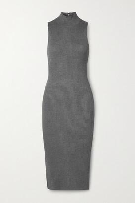 Alice + Olivia Brooklynne Ribbed Stretch-knit Turtleneck Midi Dress