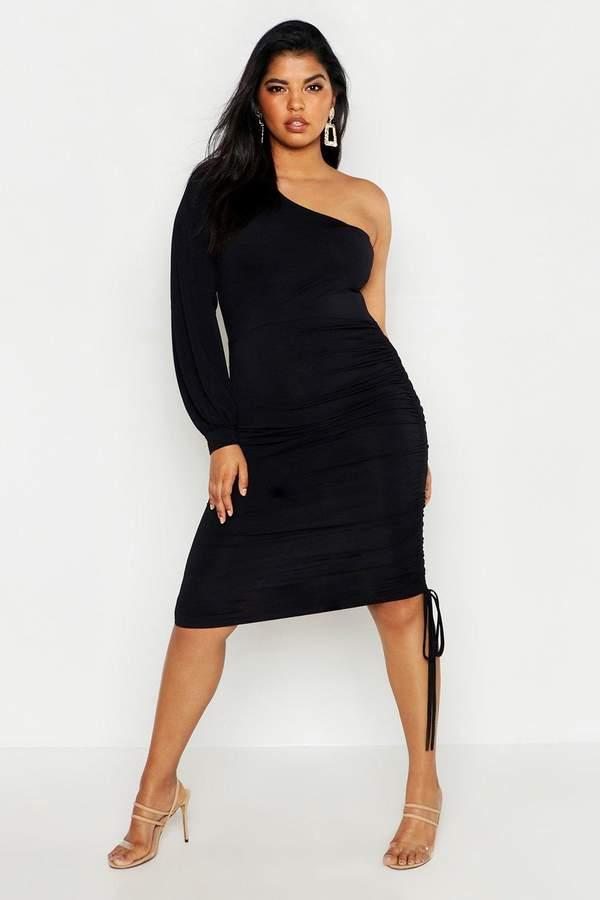 e3944bda618b boohoo Black One Shoulder Dresses - ShopStyle Australia