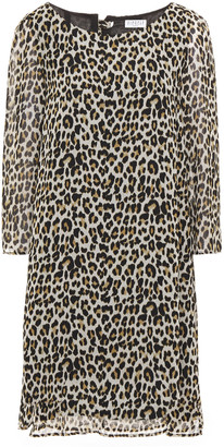 Claudie Pierlot Leopard-print Crepe De Chine Mini Dress