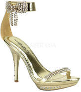 Pleaser USA Women's Monet 26 - Gold PU Ornamented Shoes