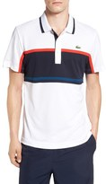 Lacoste Sport Ultra Dry Stripe Chest Polo