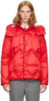 Moncler Gamme Bleu Red Down Short Hooded Jacket