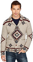 Lucky Brand Patterned Shawl Cardigan Sweater