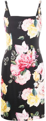 Philipp Plein Floral Shift Dress