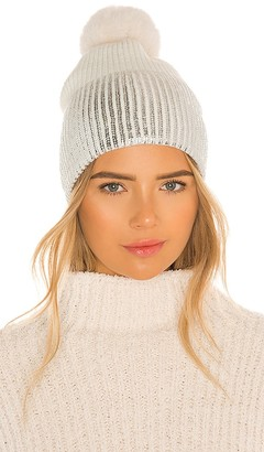 Jocelyn Ombre Metallic and Faux Fur Beanie