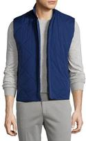Loro Piana Horsey® Wind Soft Quilted Vest, Twilight Blue