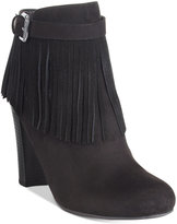 Material Girl Persia Fringe Dress Booties, Only at Macy's