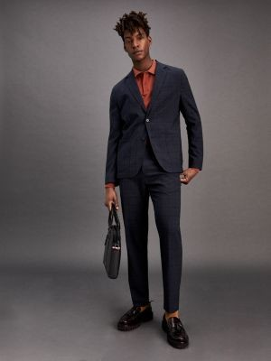Tommy Hilfiger Windowpane Check Slim Fit Suit