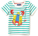 Joules Baby/Little Boys 12 Months-3T Archie Striped Crab-Applique Tee
