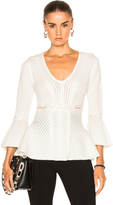 Jonathan Simkhai Lace Up Peplum Sweater