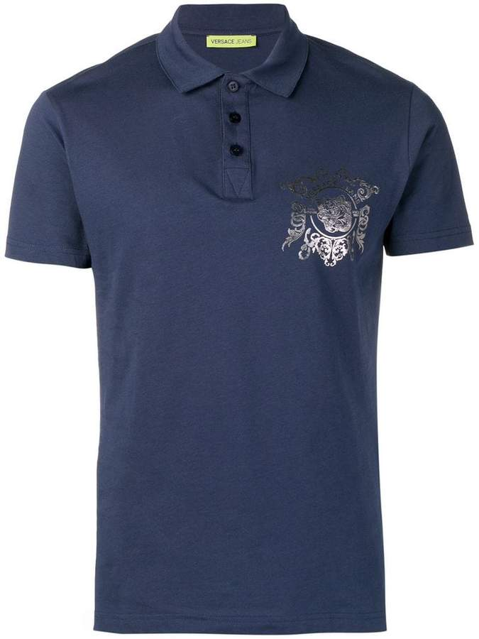 Versace tiger print polo shirt