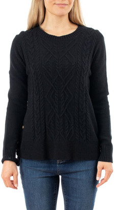Jump Side Button Cable Pullover