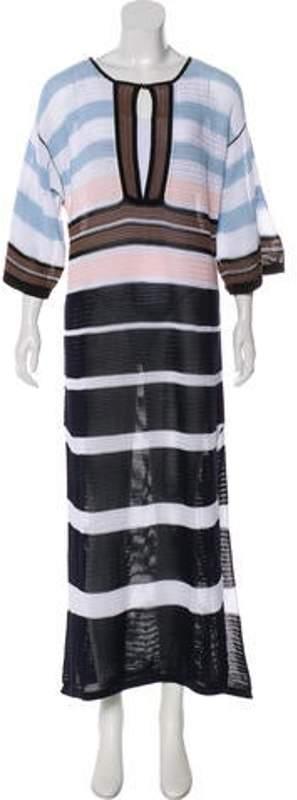 Fendi Knit Maxi Dress w/ Tags Navy Knit Maxi Dress w/ Tags