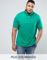 Tommy Hilfiger Plus Luxury Pique Polo Flag Logo In Green