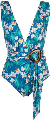 PatBO tropical print swimsuit