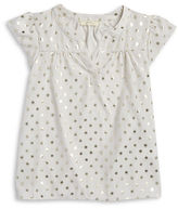 Soprano Girls 7-16 Foil Polka Dot Top