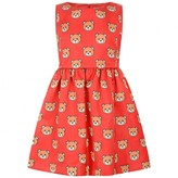 Moschino MoschinoGirls Red Teddy Print Satin Dress