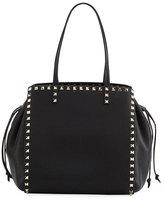 Valentino Garavani Rockstud Double Handle Tote Bag, Black