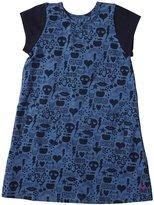 Pink Chicken Emily Dress (Toddler/Kid) - Blue Omg Print-4 Years