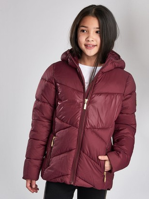 Barbour International Girls Lydden Hooded Jacket - Port