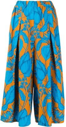 Zucca Tropical Pattern Palazzo Pants