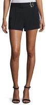 A.L.C. Del Belted Crepe Shorts, Black