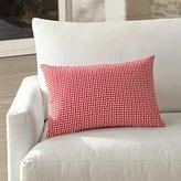 Crate & Barrel Dots Outdoor Lumbar Pillow