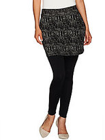 Legacy As Is Ponte Knit Printed Ankle Length Skirted Leggings