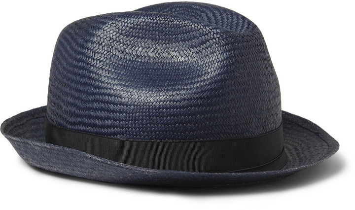 Borsalino Woven-Paper Trilby Hat