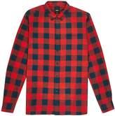 Burton Mens Big & Tall Red Long Sleeve Buffalo Check Shirt