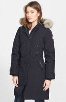 Canada Goose Women's 'Kensington' Slim Fit Down Parka With Genuine Coyote Fur Trim
