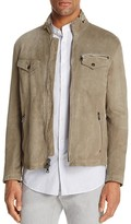 John Varvatos Collection Washed Suede Zip Jacket