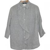 Max Mara Grey Linen Top