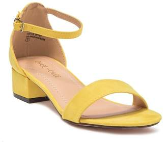 Chase & Chloe Rumi Low Ankle Strap Sandal
