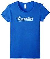Women's Cute Womens Rochester Shirt / Ladies Rochester Logo Script T XL