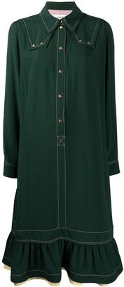 Lanvin Gathered Shirt Dress